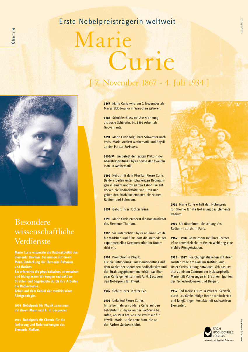 lebenslauf poster marie curie